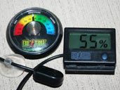 Humidty Gauges or Hygrometers are useful for monitoring the humidity in your Cane Toads enclosure